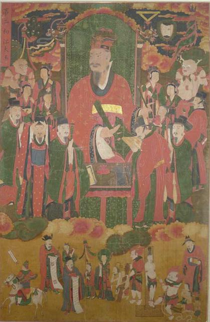 보물 제1693호 고성 옥천사 지장보살도 및 시왕도 제2 초장대왕도a.jpg