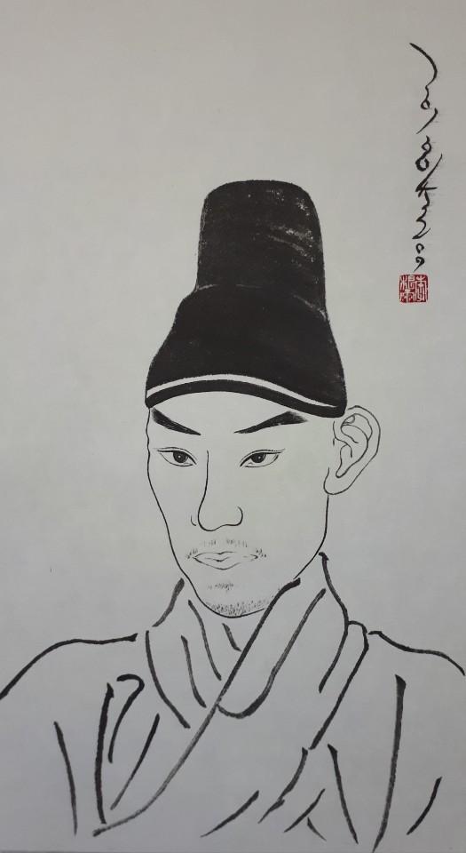 이근우, 김홍도 자화상 모사, 2018.jpg