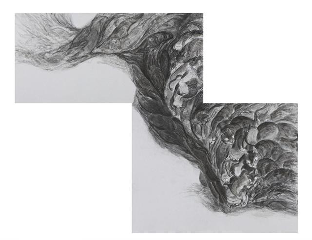 김원경-작품 사진  흐름2, 180호, 순지에 수묵과 목탄.jpg