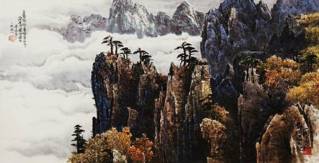 금강산 만물상 67x136cm(50호) 1998년 선우영.jpg