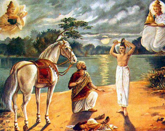 싯다르타 태자(Siddhārtha, 悉達多太子)의 삭발.jpg