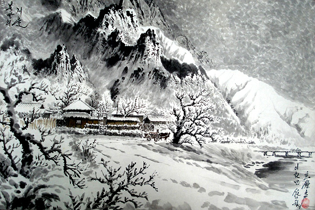 만수대창작사 1급화가 현존성 그림 '북방의 겨울'.jpg