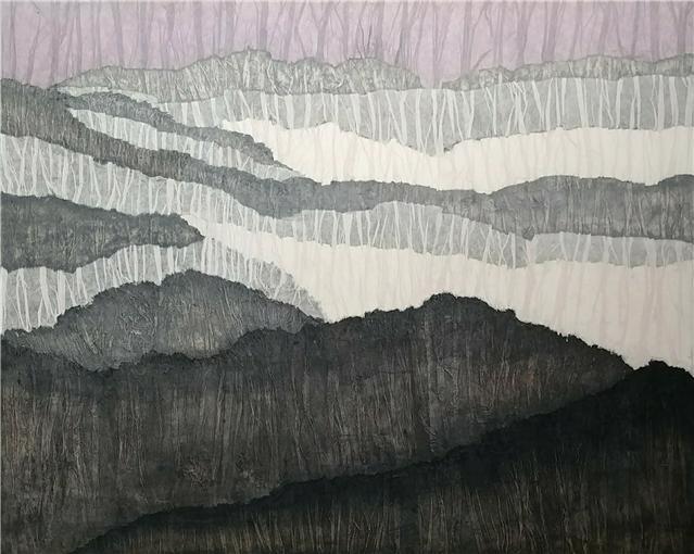 창해만리허(滄海萬里虛), 2018, 종이 위에 혼합재료, 130 x 162cm.jpg