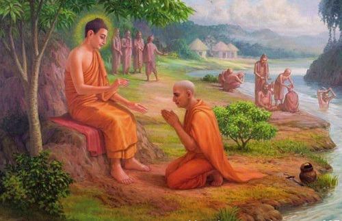 우루웰라 깟사빠(Uruvela Kassapa)는 붓다(Buddha)에 귀의(歸依)하다-The ordination of Uruvela.jpg