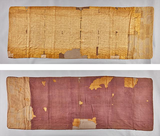 선조대왕하사 금란가사(전남유형문화재 제166호) 앞면과 뒷면.jpg