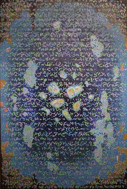 금장천과의 대화 마지에 유채 182 × 122 cm 1979.jpg