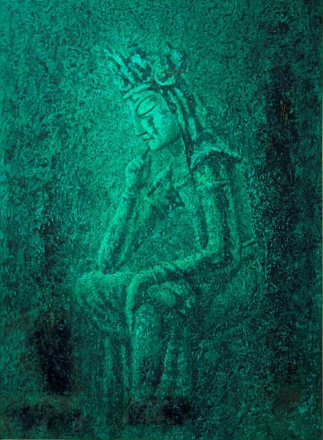청태반가사유상 마지에 유채 73.5 × 54 cm 1990.jpg